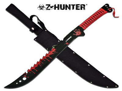 Z-Hunter Blood Splatter Machete (62.5cm) with Nylon Sheath - Brand New
