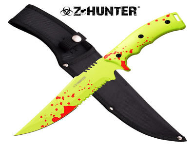 Z-Hunter Blood Splatter Fixed Blade Knife (33.7cm) with Nylon Sheath - Brand New