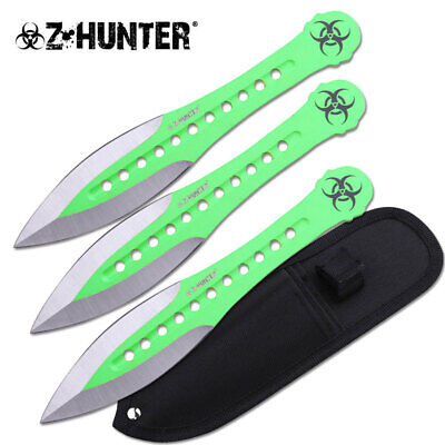Z-Hunter Biohazard Throwing Knife Set - Brand New