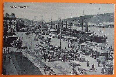 Postcard c.1905 THE QUAY WATERFORD Co.WATERFORD IRELAND