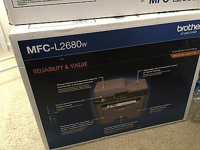 Brother MFC-L2680W Laser All-in-One Printer/Copier/Scanner/Fax Machine - New