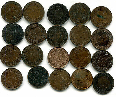 Canada - Lot of 20 Large Cents - Circulated