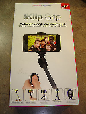 NEW IK Multimedia iKlip Grip 5 in 1 multifunction smartphone and camera stand