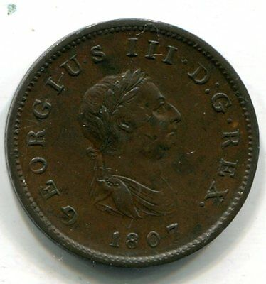 Great Britain 1807 Half Penny, George III, KM#622 XF
