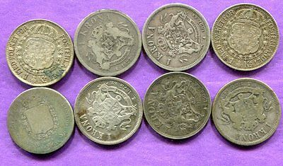 Sweden - Lot of  Silver 1/4 Specidaler & 7 Krona - Circulated