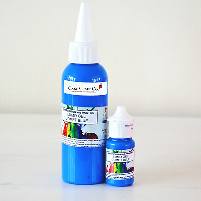 Rolkem COMET BLUE - Neon Lumo 'Glow in the Dark' EDIBLE Sugarcraft Paint & Gel