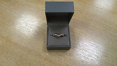 Clogau Rose Gold 18ct Make A Wish Wedding Ring *SAVE 70% OFF RRP £1000* SIZE R