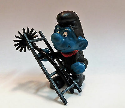 """The Super Smurfs Puffi """"chimney Sweep"""" 4.0202 (Ladder With 4 Rungs) Mf41112"""