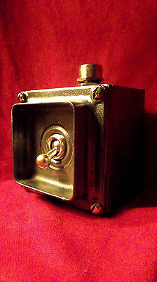 "Vintage Industrial Light Switch ""Walsall"" 1 One Gang Cast Iron ""Oversized"" BIG"