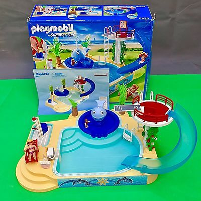 Playmobil 5433 swimming pool set with instructions 18 for Piscine playmobil