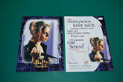 RARE BUFFY CARD- Sarah Michelle Gellar Extremely GET it Autographed! Inkworks