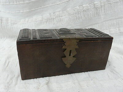 tribal antique masai mara leather clad wedding case box rare tooled african case