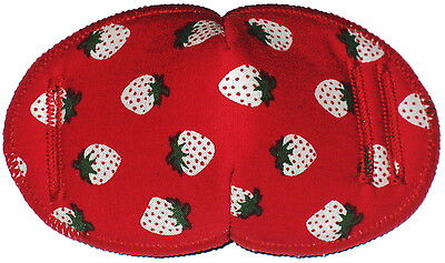 Medical Glasses Eye Patch, STRAWBERRIES, REGULAR, Soft and Washable