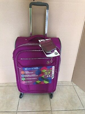 """Revo City Lights 2.0 21"""" Carry On Expandable Spinner Suitcase"""