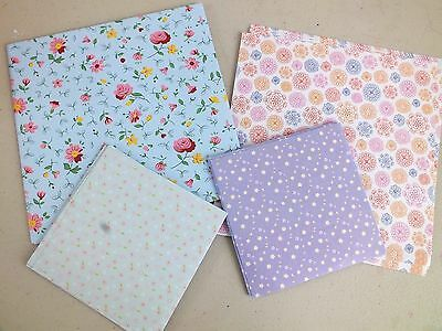 40 PASTEL COLOR FLORAL ORIGAMI PAPER 10 &15cm CHINESE JAPANESE CRAFT PARTY A10