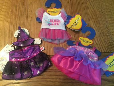 BUILD A BEAR FACTORY 3 x SMALLFRYS/BUDDIES GIRLS OUTFITS BNWT