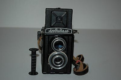 Lomo Lubitel-1 Vintage Soviet TLR Medium Format Camera & Case. Serviced. 1950.