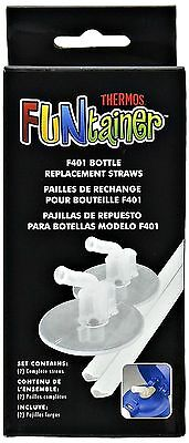 Thermos Replacement Straws for 12 Ounce Funtainer Bottle, Clear New