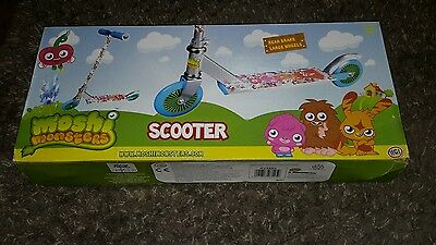 Childrens Moshi Monsters Folding Scooter For Ages 3+ New