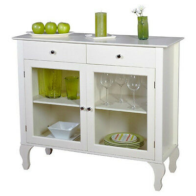 Wood Buffet Storage Cabinet Dining Room Furniture Kitchen Coffee Bar Table