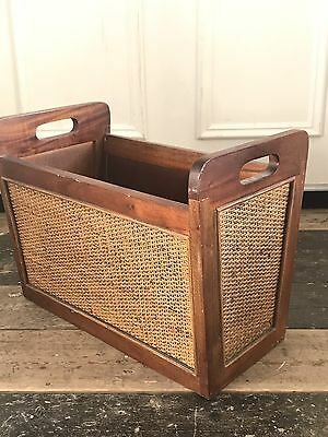 Magazine rack Rattan And Solid Wood