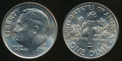 United States, 2000-P Dime, Roosevelt - Uncirculated