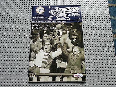 MILLWALL v DONCASTER - CHAMPIONSHIP 2010/11 05 FEB 11 - DOCKERS DAY - PROGRAMME