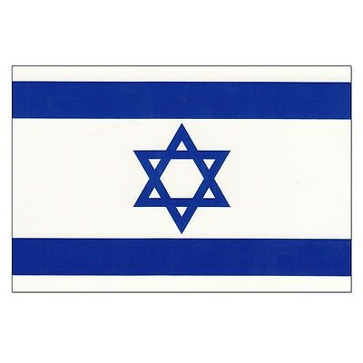 Israel Hand Waving Flag with pole -  Free UK P&P
