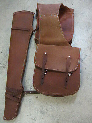 Used Tack Saddle Bags Gun Scabbard horn bag 3 piece leather rough out