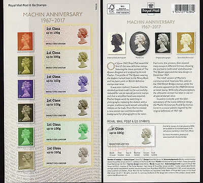 GREAT BRITAIN  2017 50YRS MACHINS   Post & Go stamps            mnh c