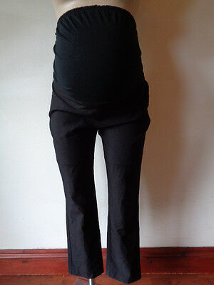 New Look Maternity Smart Black Over Bump Straight Leg Work Trousers Size 12