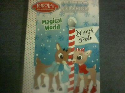 """Rudolp the Red-Nosed Reindeer """"Magical World"""", Jumbo Coloring & Activity Book VF"""