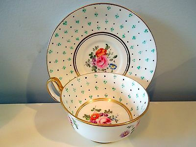 New Chelsea Tea Cup Saucer English Pink Roses Blue Floral Flowers Jewels Enamel