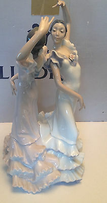 LLADRO SPANISH FLAMENCO DANCERS VINTAGE NEW (Stored in box over 20 years)
