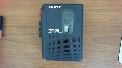 Sony TCM-313 Personal Cassette Tape Player Dictaphone Good Working Condition