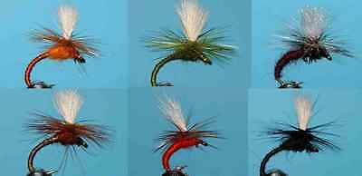 (081)  20 x Flexi Parachute Selection  HAND TIED FLIES TROUT FISHING FLY  <><