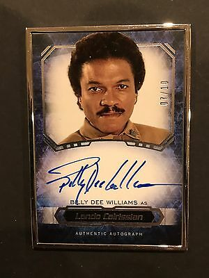 2016 Topps Star Wars Masterwork Auto /10 Lando Sp Ssp Silver Billy Dee Williams