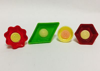 #W0 Set Of 4 Pistachio and Dates Maamoul Plastic Mould 4 Different Designs معمول