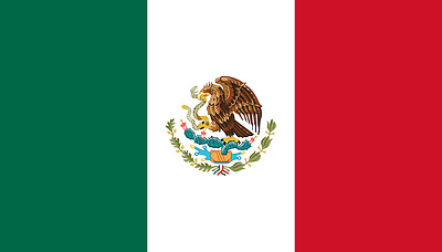 Mexico Hand Waving Flag with pole - Mexican National Flag -  Free UK P&P