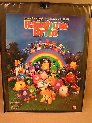 1985 Rainbow Brite Mattel Toys Product-Line 17x22 Store Advertising Poster Rare!