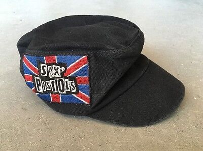 Vintage SEX PISTOLS Cap Concert Painters Hat UNION JACK BRITISH FLAG Biker