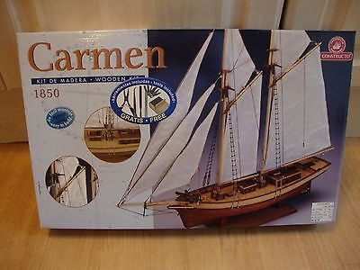 New Constructo Modelismo Carmen 1850 Wooden Ship Building Kit 1:80 Scale