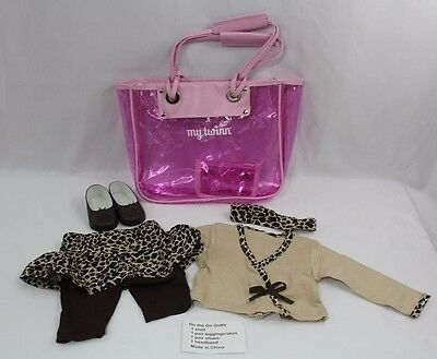 My Twinn Doll Clothes On the Go Outfit Leopard with Purse Diaper Bag