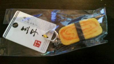 Japanese tamago egg sushi keychain cool japan key chain ring funny food new jp