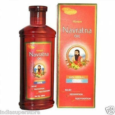 Himani Navratna Oil 300ml 100% Natural Herbal Cool Relief Relaxation Massage Oil