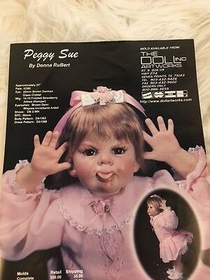"""Doll Artworks Porcelain Doll Head Mold For 20"""" Terrible Two Peggy Sue"""