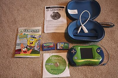 LeapFrog Leapster 2 (Green with case and 2 games)