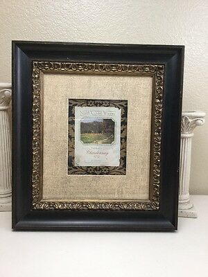 "From Carmel Ca Wine Art Print Picture Framed 19"" X 21"" North Coast Winery"