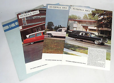 1964 Cadillac EUREKA Automobile  Hearse - Limousine - Ambulance Color Brochure