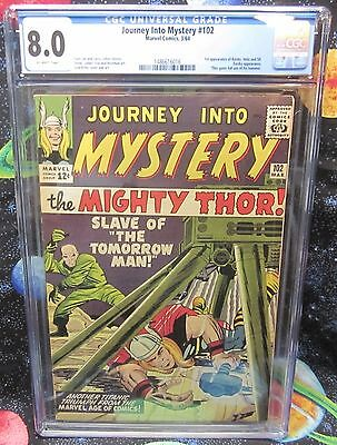 JOURNEY INTO MYSTERY #102 CGC 8.0 (OW) 1st App of Balder Hela Sif New Case